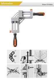 double handle aluminum 90 degree right angle clamp woodworking clip fish tank photo frames spell angle