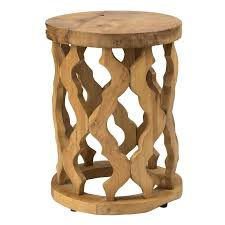 enchanting round wood accent table with brown round teakwood accent table