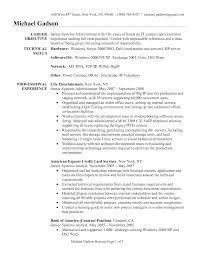 Senior System Administrator Resume Template Vinodomia