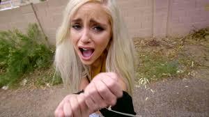 Teen Platinum Blonde Naomi Woods Giving Blowjob Image. blowjob.