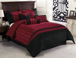 brilliant 7pcs oriental dynasty black red jacquard comforter set bed in a bag asian design bedding sets designs