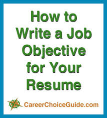 how to write resume for job resume job objectives writing tips and samples