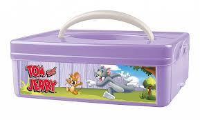 """<b>Коробка универсальная</b> с ручкой и аппликацией """"Том и Джерри ..."""