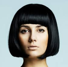 page cut with bangs short bob pagen hairstyle retro style boldly