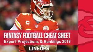 Standard Nfl Team Depth Chart Cheat Sheets Fantasy Football Cheat Sheet Expert Rankings And