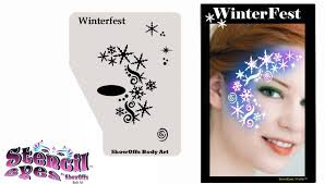 com face painting stencil stencileyes profile winterfest beauty