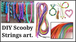 Different Scoobie Designs Diy How To Make Key Chains With Scooby Strings Of Different Designs In Hindi