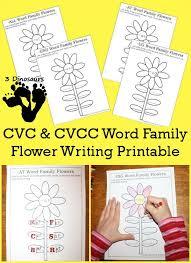 Free CVC & CVCC Word Family Writing Flowers - 52 different word ...