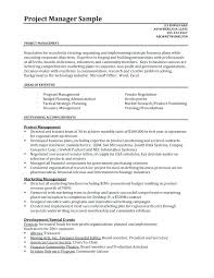 Construction Project Manager Resume Templates Project Manager Resume