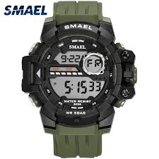 <b>Sport</b> Watch Waterproof LED <b>SMAEL</b> SShock Resist Military <b>Men</b> ...
