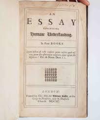 An Essay Concerning Humane Understanding John Locke First Edition