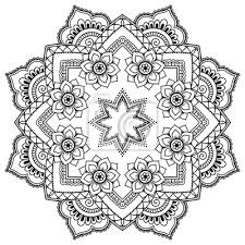 Fototapeta Henna Tetování Mandala V Mehndi Stylu Vzor Pro Omalovánky Ručně