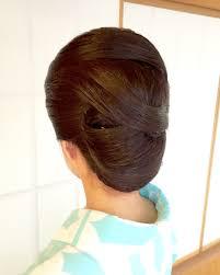 和装ヘアスタイル 髪の流れが美しい東京神楽坂でヘアセット 着付け