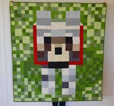 Minecraft Steve quilt   Kaesey & minecraft dog quilt 2 Adamdwight.com