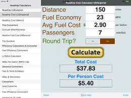 Roadtrip Gas Cost Calculator App Price Drops