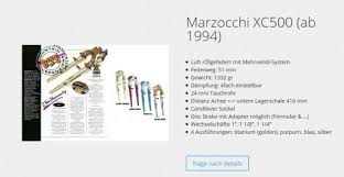 marzocchi xc500 fork silver or anium