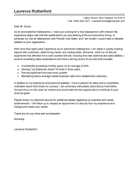 Sales Skills Resume Best Automotive Salesperson Cover Letter Examples LiveCareer 93