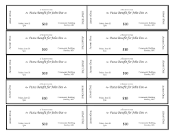 10 Free Event Ticket Templates For 25742644514 Fundraising