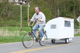 Bike Camper Trailer A Real Bike Trailer House