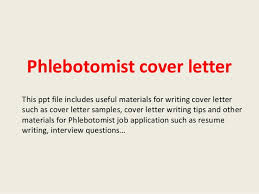 Phlebotomy Resume Cover Letter