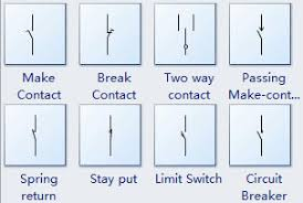 electrical switch symbols contact switch symbols