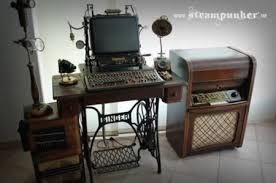 alexander schlesier aka the steampunker is the maker of steampunk housewares furniture and mad scientist gear he built this classy and functional amazing diy home office