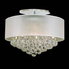 lighting fabulous crystal flush mount chandelier 13 0001247 20 organza contemporary round ceiling lamp chrome finish