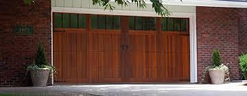 wood double garage door. Modern Wood Double Garage Door With Carriage Doors House T