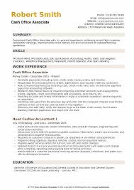 Cash Office Associate Resume Samples Qwikresume