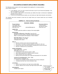 Resume Objective Student Write Resume Objective For Students How A Career On Sample 9