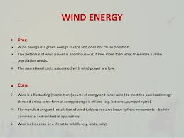 Wind Power Pros And Cons Chart Natural Resources Renewable And Non Renewable