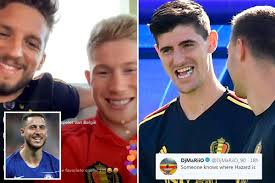 Thibaut Courtois and Kevin De Bruyne cheekily make more hints that Eden  Hazard is 'in Madrid' and on brink of Real transfer