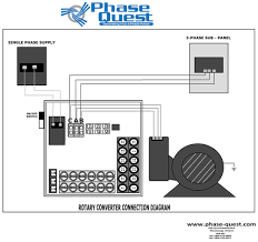 wiring diagrams phase quest inc phase quest inc how to wire a rotary phase converter rotary converter wiring diagram