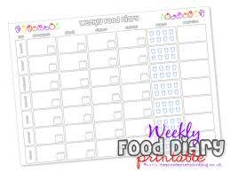 Weekly Food Diary Free Printable