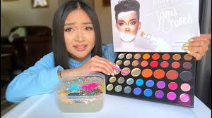 mixing my james charles palette into slime