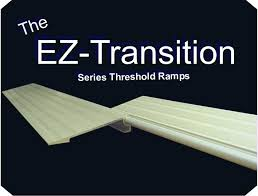 the transition series threshold ramps are a perfect solution for doorways when a scooter or wheelchairs needs to pass trough the doorway