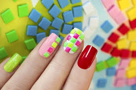 bining colors to create beautiful nails