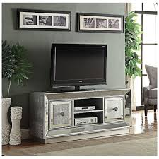 Mirrored Tv Cabinet Living Room Furniture Sofia Venetian Mock Croc And Mirrored Glass Widescreen Tv Unit