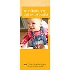 baby pamphlets your childs first visit to the dentist brochure ada w110