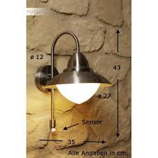 eglo sidney wall light stainless steel