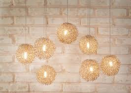Modern Dining Room Pendant Lighting Adorable Modern Dining Room Pendant Lighting Cluster Of Brass Hanging Etsy