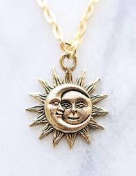 sun moon necklace sun and moon