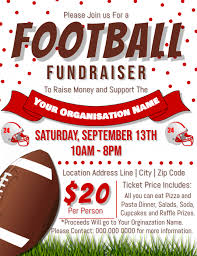 Fundraising Flyer Ideas Football Fundraiser Flyer Template Postermywall