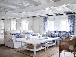 white coastal furniture. Blue And White Coastal Beach House Living Room Furniture