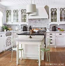 Glass kitchen cabinet doors Wall Mounted Enlarge Traditional Home Magazine Distinctive Kitchen Cabinets With Glassfront Doors Traditional Home