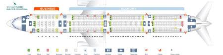Cathay Pacific Business Class Seating Chart Cathay Pacific Fleet Boeing 777 300 Er Details And Pictures