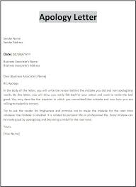 Letter Format For Apologize Copy Professional Apology Letter
