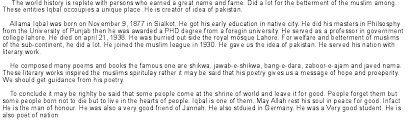 essay on allama iqbal essay of allama iqbal urdu learning aaØ  essay allama iqbal buy paperbing