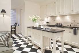 Design Ideas For White Kitchens | Traditional Home Inside Black And White  Tile Kitchen