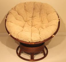 com rattan wicker swivel rocking round papasan chair with cushion colonial light brown kitchen dining